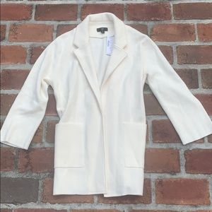 NWT J crew cream sweater blazer size small